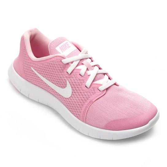 077dccaf0 Tênis Infantil Nike Flex Contact Feminino - Rosa e Branco | Zattini