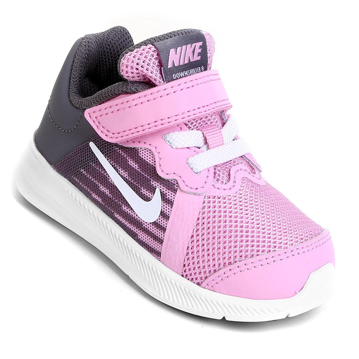 9b5d6b0c7c3 Tênis Infantil Nike Downshifter 8 Gtv Com Velcro Feminino