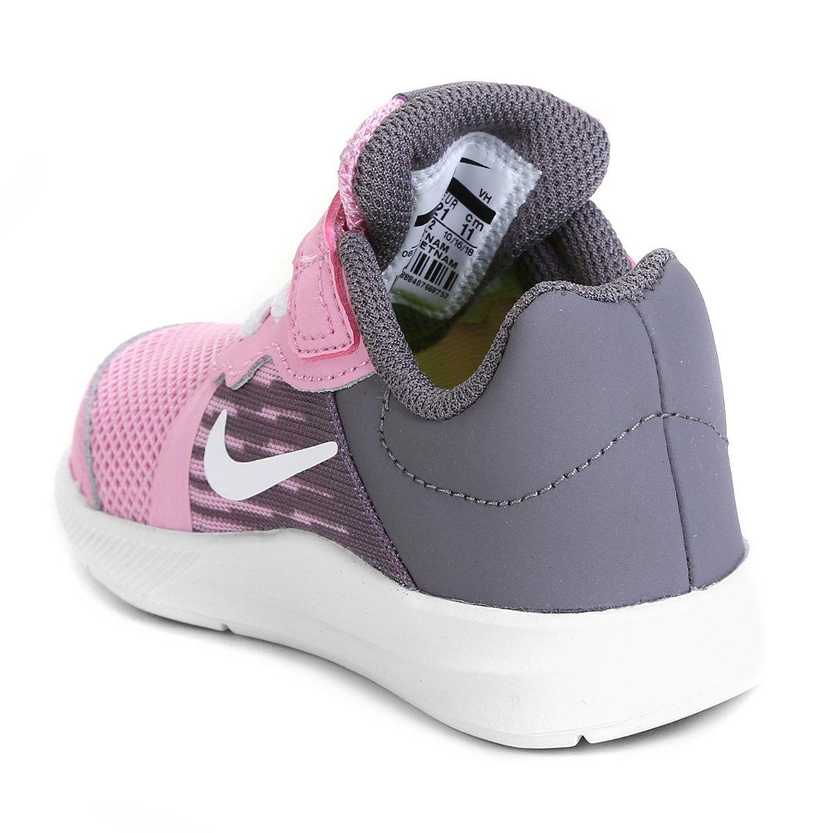 f099da9472f Tênis Infantil Nike Downshifter 8 Gtv Com Velcro Feminino