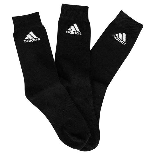 Meia Adidas Thin Pacote C  3 Pares Cano Alto - Compre Agora  ae271a08708e0