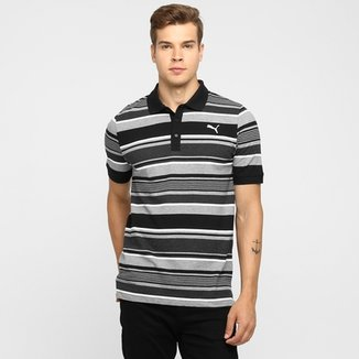 Camiseta Polo Puma Fun Dry Stripe Pique 6c96a2566ee95