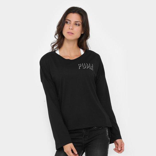 Camiseta Puma Fusion A-Line Tee W Feminina - Compre Agora  9abfeee3282a7