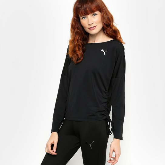 Camiseta Puma Transition Light Cover Up M L Masculina - Preto ... 39713f556fad0