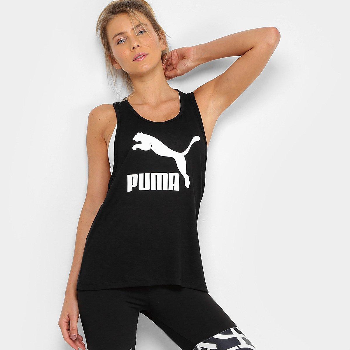 a831d4f469 Camiseta Regata Puma Classics Logo Tank Feminina