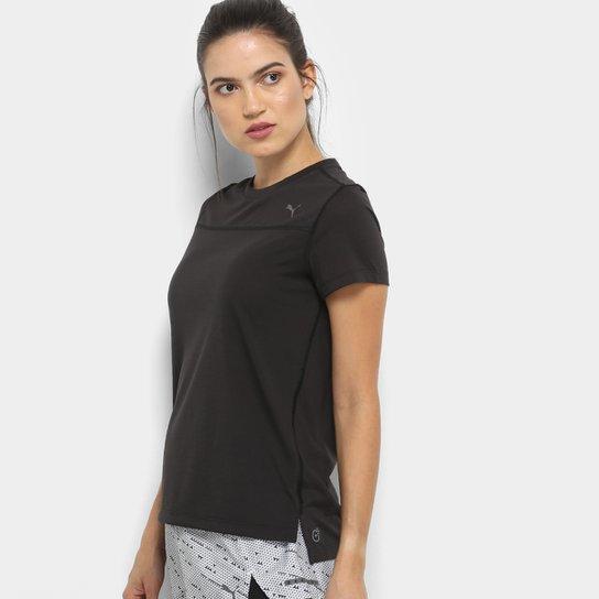 Camiseta Puma Ignite S S W Feminina - Preto - Compre Agora  675cb0c7e7a34