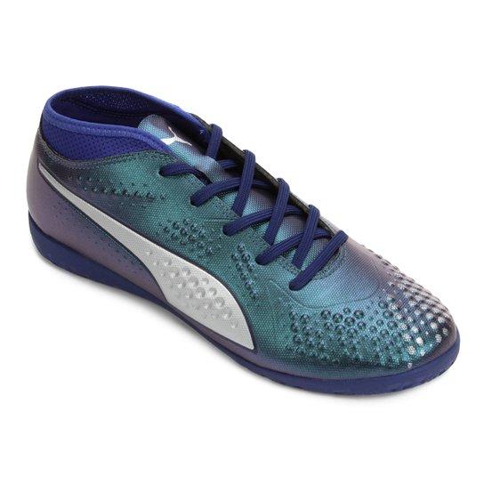 Chuteira Futsal Infantil Puma One 4 Syn IT BDP - Preto - Compre ... 3aed3541f952c