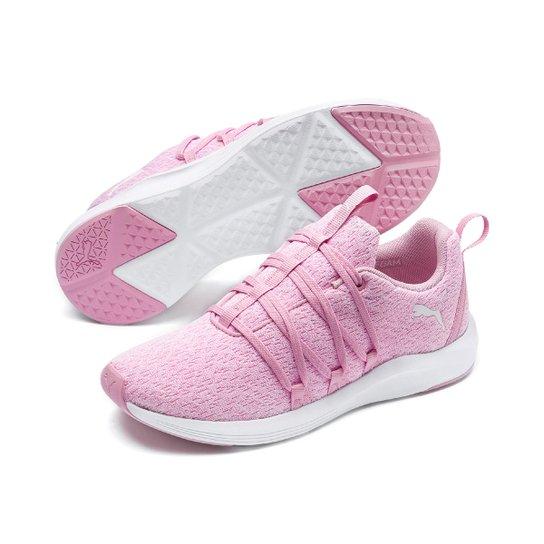 307376fc2cf Tênis Puma Prowl Alt Knit Wns Feminino - Rosa e Branco - Compre ...
