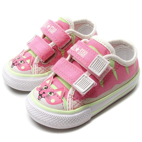bc038eb0a8 Tenis Converse Chuck Taylor Border Velcro Infantil Gatinha All Star -  Rosa+Branco