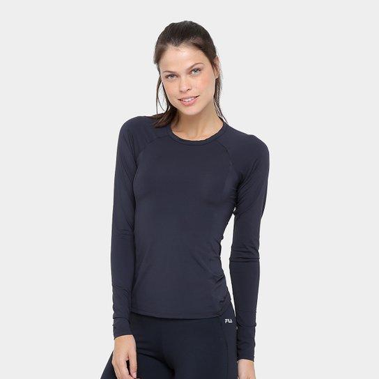 16e473b7aa Camiseta Fila Speed Ns Manga Longa Feminina - Preto - Compre Agora ...