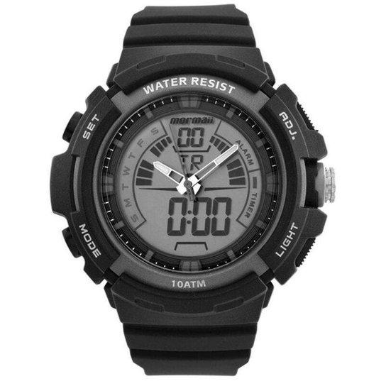 1372c02b3684a Relógio Mormaii MOAD08902 8C Masculino - Preto - Compre Agora