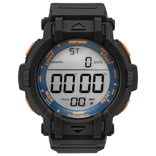 a35add761bbe5 Relógio Mormaii Masculino Acqua Action - MOM08111D 8L MOM08111D 8L - Preto