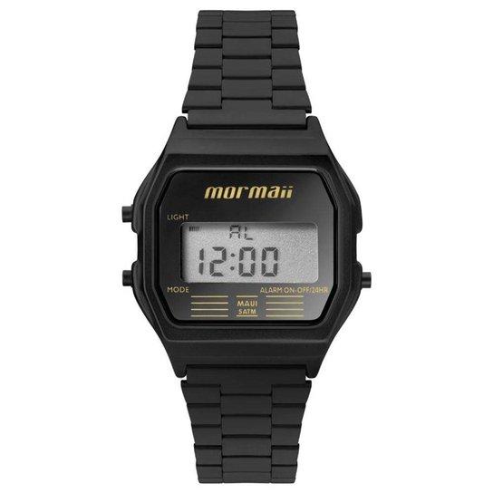 3a86a5e7ab35b Relógio Feminino Mormaii Vintage Digital Mojh02aj  - Preto - Compre ...