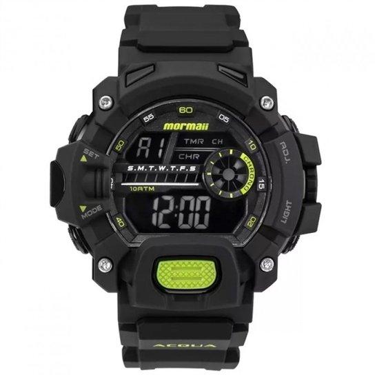 ca2a523f424 Relógio Mormaii Digital Acqua MO1132AG8V Preto Masc - Preto - Compre ...