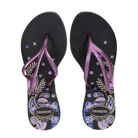Chinelo Dedo Feminino Havaianas Preto - Compre Agora  6095f18ae9e