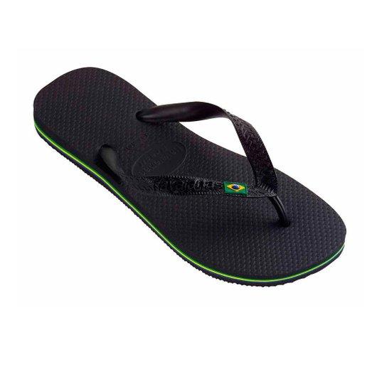 Sandália Havaianas Brasil Preto - Preto - Compre Agora  a8d539917bd