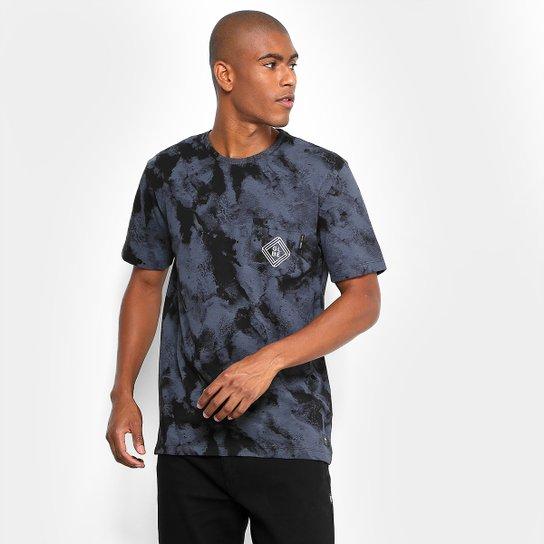6fa3c9a4c Camiseta Especial Globe Tie Dye Full Print Masculina - Preto | Zattini