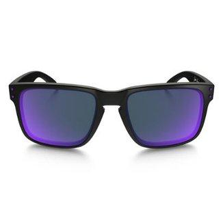 a0b7f0782e30b Óculos Oakley Holbrook Matte Black Violet Iridium