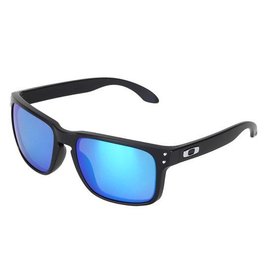 f3592665349ab Óculos de Sol Oakley Polarized Masculino - Azul - Compre Agora