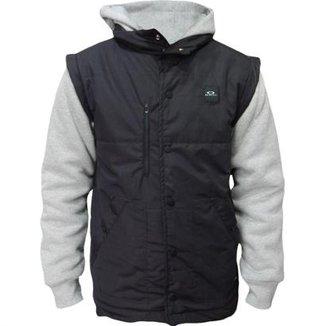 Jaqueta Moletom Oakley Sport Puff Fleece Masculino 51b37095f1