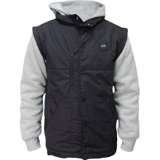 Jaqueta Moletom Oakley Sport Puff Fleece Masculino - Preto - Compre ... 946b73f8fd373