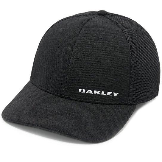 Boné Oakley Silicon Bark Trucker 4.0 Masculino - Preto - Compre ... 203c74f542f