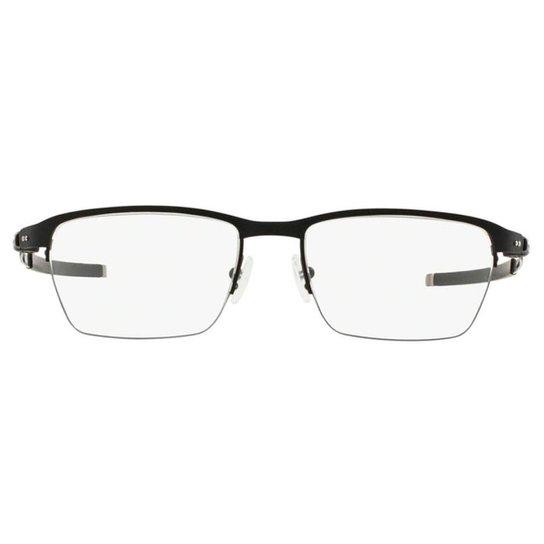 f4c03ad869c Armação Óculos de Grau Oakley Frame Tincup 0.5 TITANIUM OX5099 509901 53 -  Preto