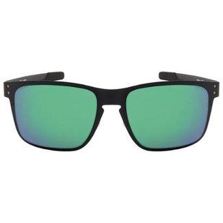 84198ceb27150 Óculos de Sol Oakley Holbrook Metal OO4123 - Matte Black - Jade Iridium -  412304