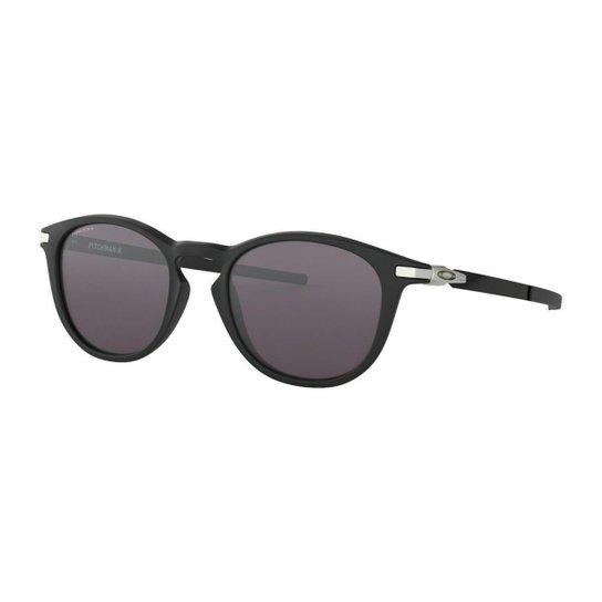Óculos de Sol Oakley Pitchman Satin - Preto - Compre Agora   Zattini 6b27d36e9d