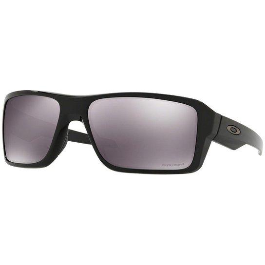 3edbb907d786b Óculos Oakley Double Edge Polished Black   Lente Prizm Black Iridium - Preto