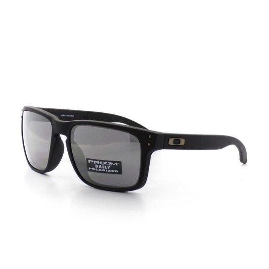 7098e5db63785 Óculos Sol Oakley 9102 T 55 C D6 Holbrook Masculino - Preto - Compre ...