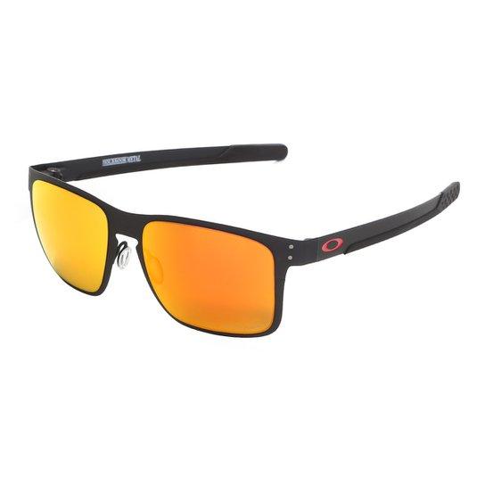 9a856e226 Óculos De Sol Oakley Holbrook Metal Prizm Masculino - Preto | Zattini