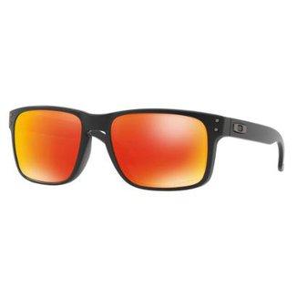 2dd1607450d12 Óculos Oakley Holbrook Matte Black   Prizm