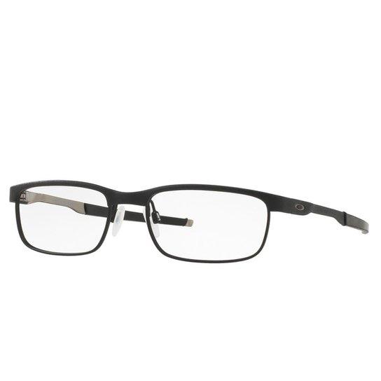 c030ee9dbfce5 Óculos Oakley de Grau Steel Plate Masculino - Preto - Compre Agora ...