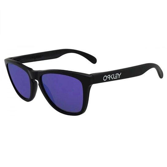 dce0ece8b Óculos de Sol Oakley Frogskins Iridium - Preto   Zattini