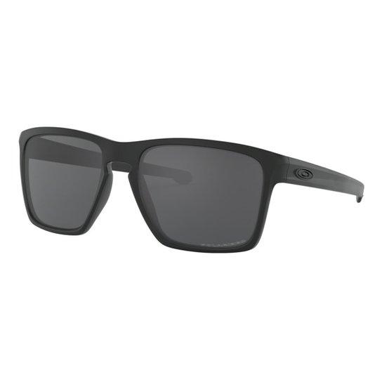 2e28b145d Óculos Oakley Sliver XL Matte / Lente Grey Polarizado Masculino - Preto