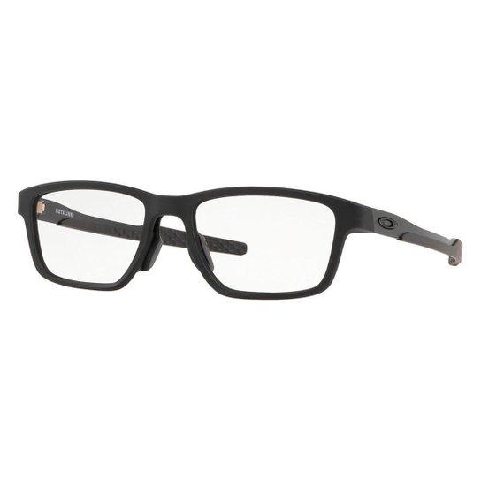 15bc8b3fd Óculos de Grau Oakley Metalink OX Masculino - Preto   Zattini