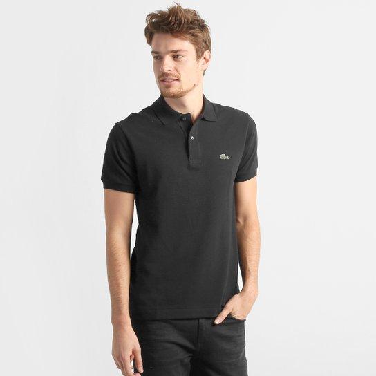 Camisa Polo Lacoste Original Fit Masculina - Preto - Compre Agora ... 49bd383505
