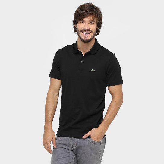 Camisa Polo Lacoste Malha Original Fit Masculina - Preto - Compre ... c5c0e0369e