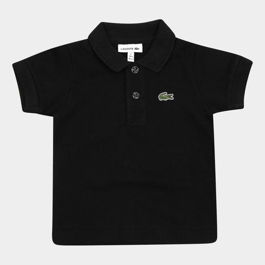 Camisa Polo Infantil Lacoste Masculina - Preto - Compre Agora   Zattini 3cad6e2103