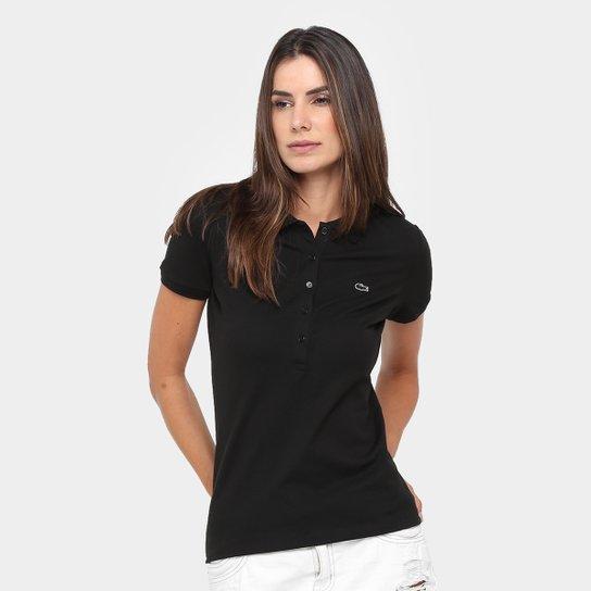 6a7bcbf778754 Camisa Polo Lacoste Logo Feminina - Compre Agora   Zattini