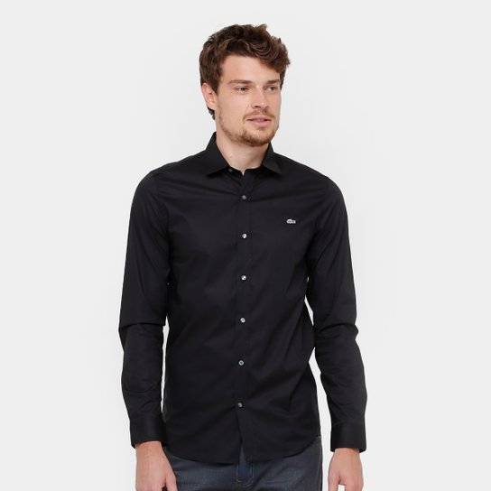 537211fc77df6 Camisa Social Lacoste Slim Fit Lisa Masculina - Compre Agora   Zattini