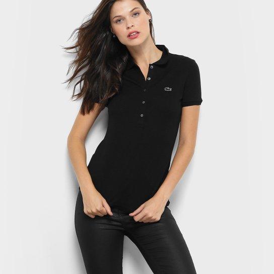 d48d9a44186 Camisa Polo Lacoste Manga Curta Botões Feminina - Compre Agora