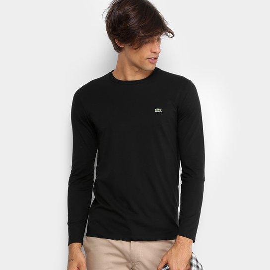 855777dcf4aaa Camiseta Lacoste Básica Manga Longa Masculina - Compre Agora   Zattini