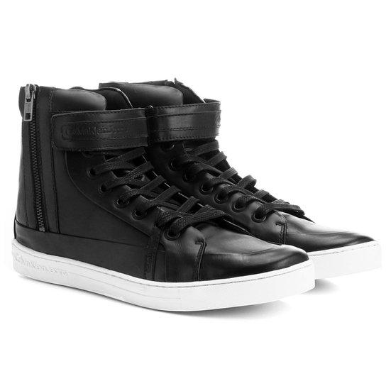 Tênis Calvin Klein Cano Alto Velcro - Preto - Compre Agora   Zattini 449b39b882