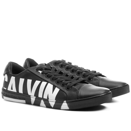 3ab61b6d3bf60 Sapatênis Couro Calvin Klein Estampado Masculino - Compre Agora ...