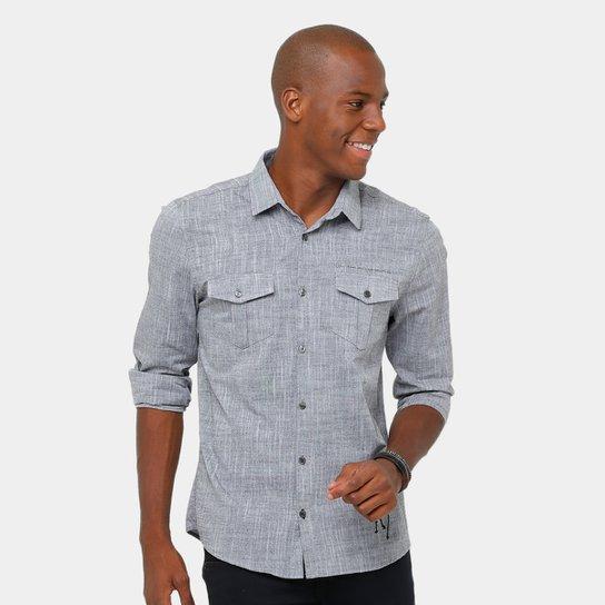 Camisa Social Calvin Klein Mesclada Masculina - Compre Agora   Zattini dda792901c