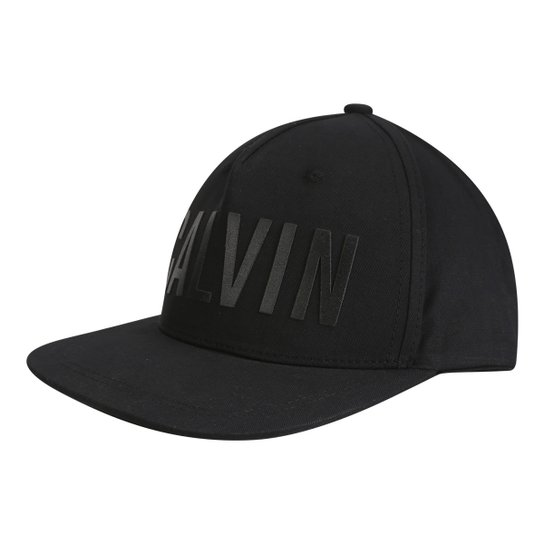 47d46813405df Boné Calvin Klein Aba Reta Logo Emborrachado Masculino - Compre ...