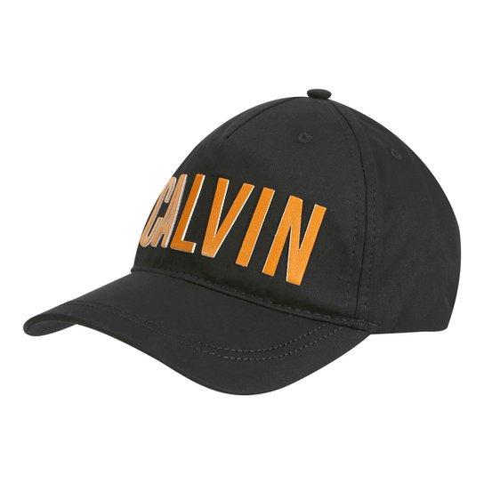 Boné Calvin Klein Aba Curva Snap Back Logo Masculino - Compre Agora ... 21a2ac8f86a