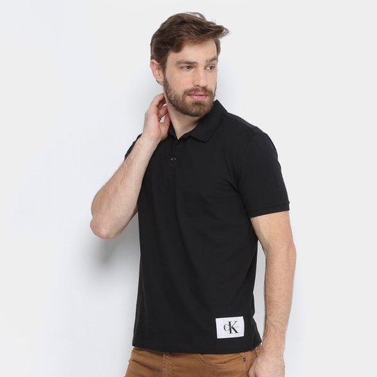 22878475a7 Camisa Polo Calvin Klein Piquet Etiqueta Patch Masculina - Compre ...