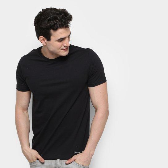 Camiseta Calvin Klein Básica Masculina - Compre Agora   Zattini 989e2fe1eb